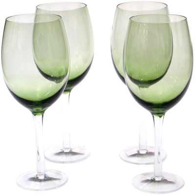 Certified International Set of 4 White Wine Glasses