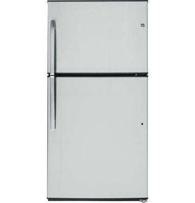 GE® ENERGY STAR® 21.2 Cu. Ft. Stainless Top-Freezer Refrigerator