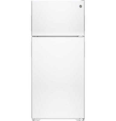 GE® ENERGY STAR® 15.5 Cu. Ft. Recessed Handle Top Freezer Refrigerator