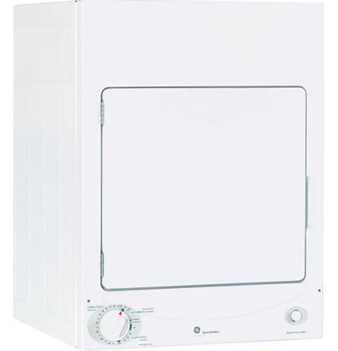 GE Spacemaker® 120V 3.6 cu. ft. Stationary Electric Dryer