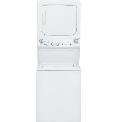 GE® Unitized Spacemaker® 3.2 DOE Cu. Ft. Washer and 5.9 Cu. Ft. Electric Dryer