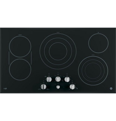 "GE Café ™  36"" Built-In Knob Control Electric Cooktop With 5 Elements"