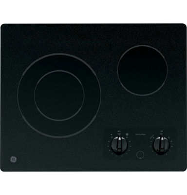 "GE® 21"" Electric Radiant Cooktop With 2 Burners"