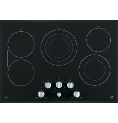 "GE Café ™  30"" Built-In Knob Control Electric Cooktop With 6 Elements"