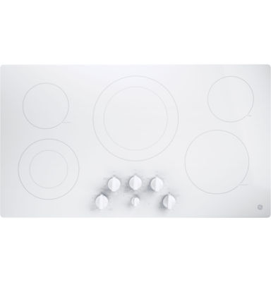 """GE® 36"""" Built-In Knob Control Electric Cooktop With 5 Elements"""