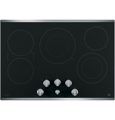 """GE Profile™  30"""" Built-In Knob Control Electric Cooktop With 5 Elements"""