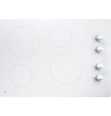 """GE® 30"""" Built-In Knob Control Electric Cooktop With 4 Elements"""