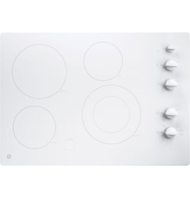 "GE® 30"" Built-In Knob Control Electric Cooktop With 4 Elements"