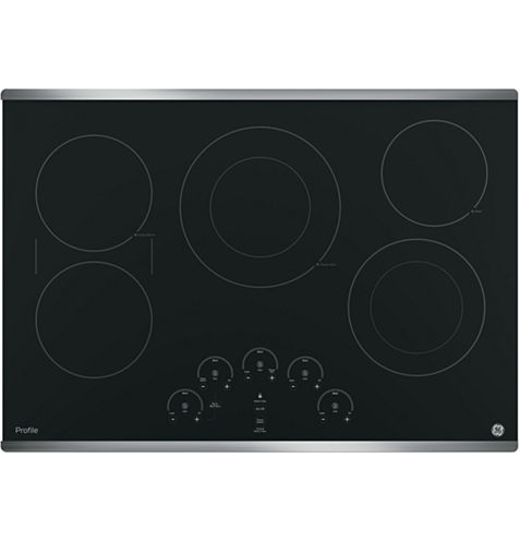 """GE Profile™  30"""" Built-In Touch Control Electric Cooktop With 5 Elements"""