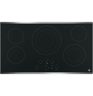"GE® 36"" Built-In Knob Control Electric Cooktop With 5 Elements"