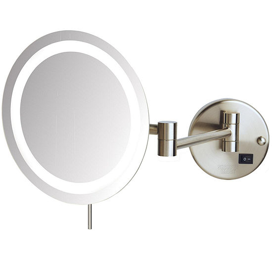 Sharper Image® 8X LED Wall-Mount Makeup Mirror