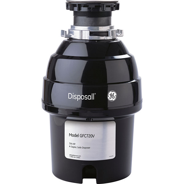 GE® 3/4 HP Continuous-Feed Garbage Disposer - Non-Corded