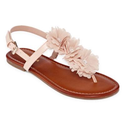 Arizona Womens Adele Adjustable Strap Flat Sandals