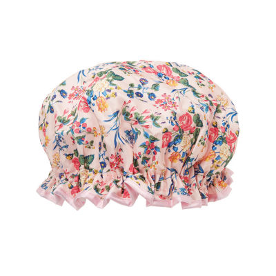 The Vintage Cosmetic Company Shower Cap - Pink Satin Floral
