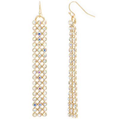 Sparkle Allure Multi Color Pure Silver Over Brass Round Drop Earrings