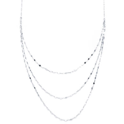 Silver Reflections Silver Reflection Pure Silver Over Brass 25 Inch Solid Chain Necklace