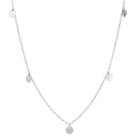 Silver Reflections Pure Silver Over Brass 30 Inch Cable Chain Necklace