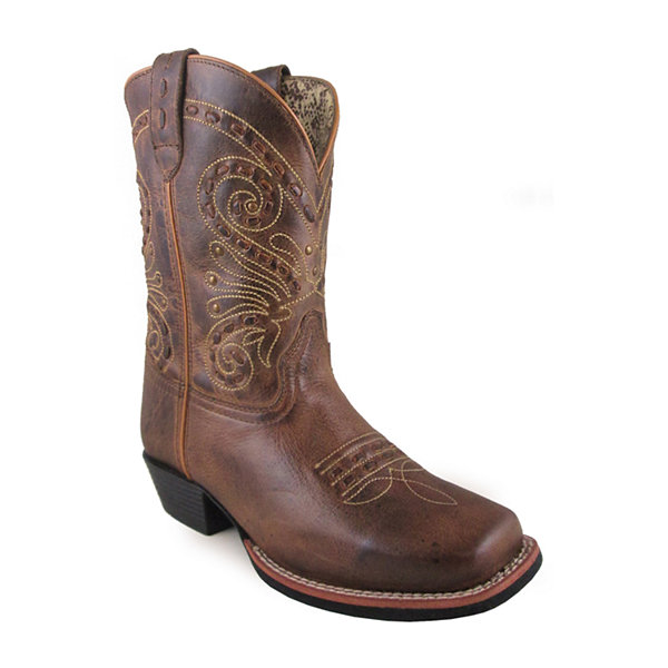 "Smoky Mountain Women's Shelby 9"" Waxed Distress Leather Cowboy Boot - Wide Width Available"