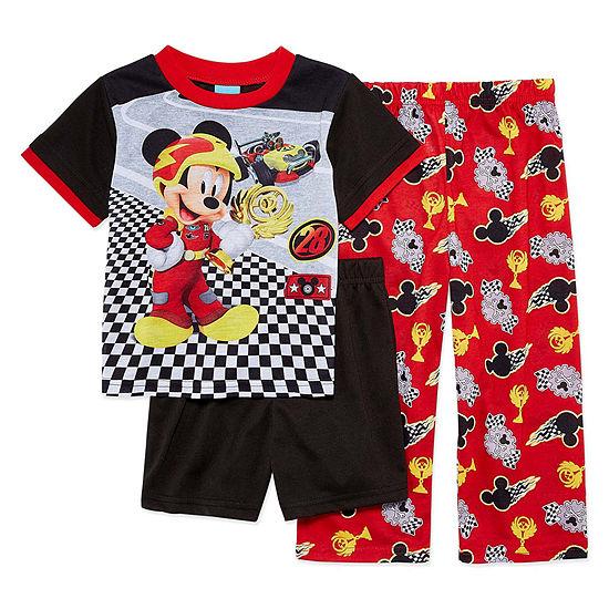 Disney 3-pc. Mickey Mouse Pajama Set Big Kid Boys