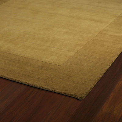 Kaleen Regency Solid Hand-Tufted Wool Rectangular Rug