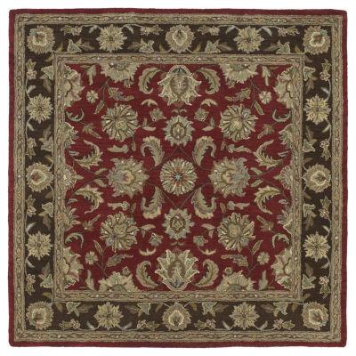 Kaleen Tara Square Kashan Hand-Tufted Wool Square Rug