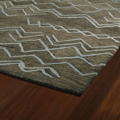 Kaleen Casablanca Chevron Hand-Tufted Wool Rectangular Rug