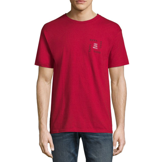 Vans Mens Crew Neck Short Sleeve Graphic T-Shirt