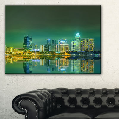 Designart Singapore View From Marina Bay Skyline Photo Canvas Print