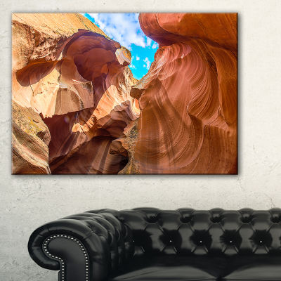 Designart Sky From Antelope Canyon Landscape PhotoCanvas Art Print - 3 Panels