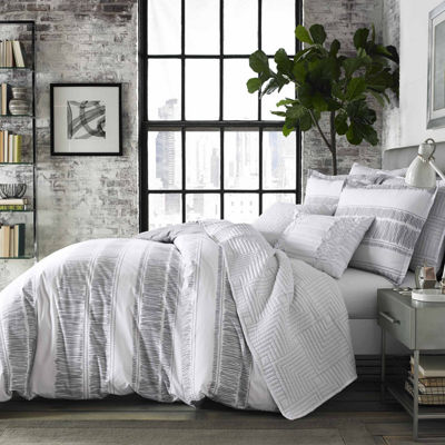 City Scene Ziggy White Comforter Set