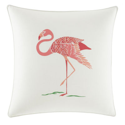 Nine Palms Flamingo Square Pillow