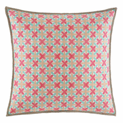 Nine Palms Geo Square Pillow