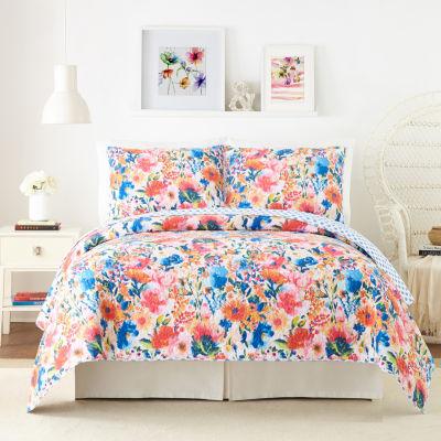 Modern Heirloom Conservatory Garden 3-pc. Floral Quilt Set