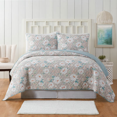 Modern Heirloom Elnora 3-pc. Floral Quilt Set