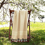 Linum Home Textiles Luxe Herring Bone 38x69 Beach Towel