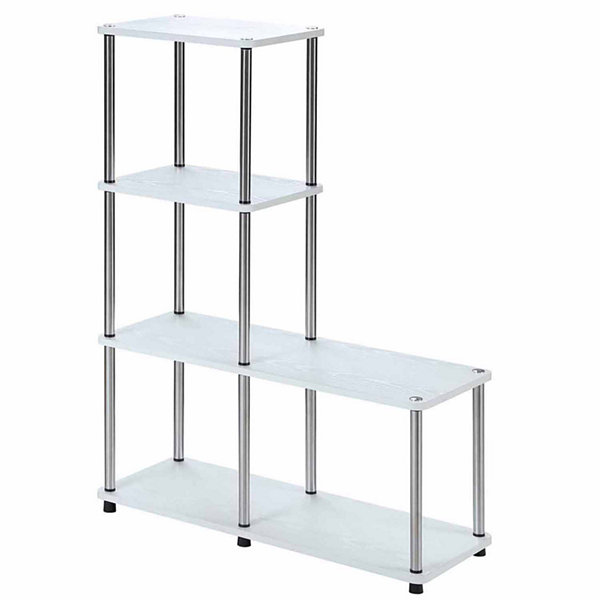 "Convenience Concepts Designs2Go Multi Shelf ""L"" Bookshelf"