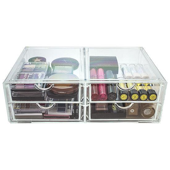 Sorbus Acrylic Cosmetics Makeup & Jewelry StorageCase X-Large Display Set