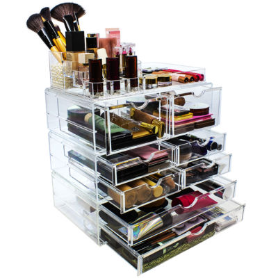 Sorbus Acrylic Cosmetics Makeup & Jewelry StorageCase X-Large Display Set