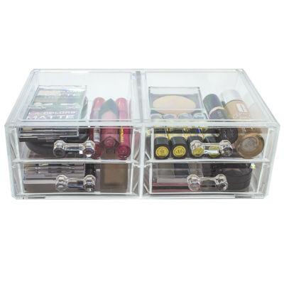 Sorbus Acrylic Cosmetics Makeup & Jewelry StorageCase Display Sets