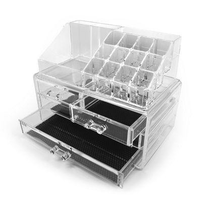 Sorbus Acrylic Cosmetic and Makeup Storage Case Display