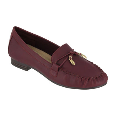 Mia Amore Mindy Womens Loafers Strap Round Toe