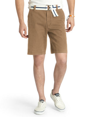 IZOD Flat Front Stretch Cotton Golf Short