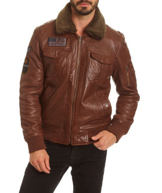 Excelled Leather Leather Bomber Jacket Big and Tall