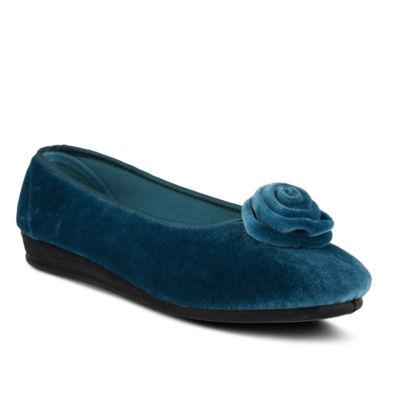 Flexus Womens Roseloud Round Toe Slip-On Shoe