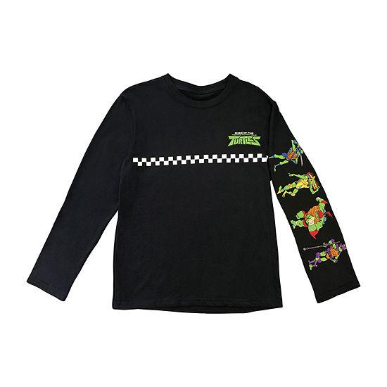 Ss Licensed Tees Boys Crew Neck Long Sleeve Teenage Mutant Ninja Turtles T-Shirt Preschool / Big Kid
