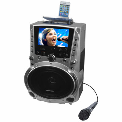 """DVD/CDG/MP3G Karaoke Machine with 7"""" TFT Color Screen, Record Function and Bluetooth"""