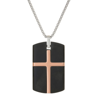 Mens Dog Tag Pendant Necklace