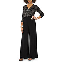 3a0d0913d60 Ronni Nicole 3 4 Sleeve Jumpsuits   Rompers for Women - JCPenney
