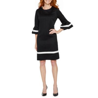 Liz Claiborne 3/4 Bell Sleeve Fit & Flare Dress