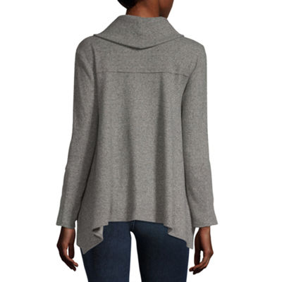 Artesia Womens Cowl Neck Long Sleeve Sweatshirt